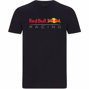 Red Bull Racing F1 Men's Large Logo T-Shirt - Navy/White/Orange