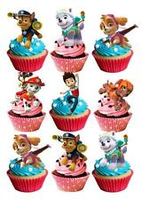 30 Paw Patrol STAND UP Cupcake Fairy Cake Topper Edible Paper Decorations edible