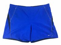 Nike Mens Flat Front Running Athletic Blue Black Shorts Size XXL