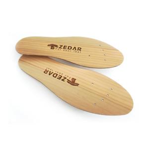 ZEDAR Zedernsohlen - Einlegesohlen aus Holz
