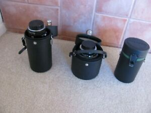 2 Vivitar Series 1 Lenses with Cases Plus Extra
