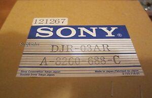 Sony DJR-03AR / A-8260-688-C DVW-500 BETA VTR Upper Drum Assembly - New In Box!