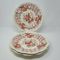 "Vintage Copeland Spode ""Spode's Aster"" Pattern Red Dinner Plate's Lot of 3"
