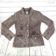 Anchor Blue Corduroy Jacket Blazer Brown Womens Size Medium M Barn Jacket V-009