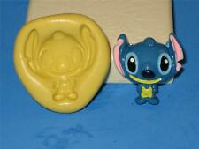 Disney Stitch Push Mold 2D Food Safe Silicone A87 Cake Topper Chocolate Resin