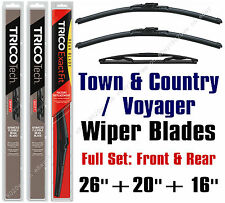 "Chrysler Town & Country 2008-2010 Wiper Blades 3-Pk 26""+20""+16"" 19260/19200/16-E"