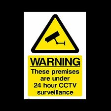 CCTV Sign, Sticker - 150mm x 200mm (A5) - Security, Camera, Warning  (MISC12)