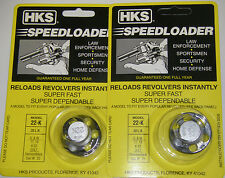 2 Pack HKS 22-K Speed Loader 22 LR S&W 17, 18 K-22 Colt, Diamondback Dan W .22