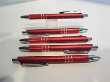 LOT OF 5 RED TERZETTI SLEEK BALLPOINT PEN W/ SURE GRIP BUY MORE AND SAVE DEALT