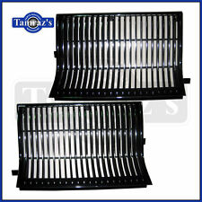 86 Cutlass 442 Front Header Panel Radiator Grill Grille Chrome & Black - PAIR