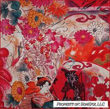 BonEful Fabric FQ Cotton Quilt VTG Antique Megumi Asian Gothic Flower Girl Lady
