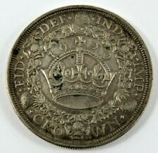 GREAT BRITAIN 1929 CROWN KING GEORGE V .500 SILVER XF CONDITION .4545 OZ.