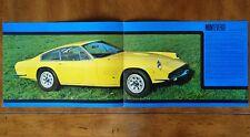 Monteverdi 375S High Speed brochure Prospekt, 1970