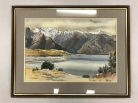 "Original Watercolour Painting By Joy Simmonds ""Mount Cook"" New Zealand"