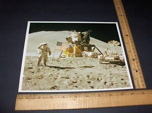 NASA 8-11-71 APOLLO 15 ONBOARD FILM ASTRO. IRWIN SALUTES FLAG A KODAK PHOTO