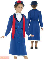 Girls Victorian Nanny Costume Childs Mary Fancy Dress Book Week Outfit