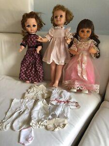 1963 Vintage Eegee Tandy Talks,1965 Jouet Inc. Furga, 1970 Poly toy Jamie Dolls