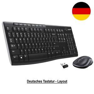 Logitech MK 270 Funk QWERTZ Tastatur + Wireless Maus SET Keyboard Mouse USB PC
