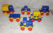 "6 Wader Quality Plastic Cars Trucks Vehicles 4.5"" VINTAGE RARE TOYS Connect Kids"