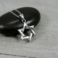 925 Sterling Silver Star of David Necklace - Jewish Hanukkah Charm Gift Jewelry