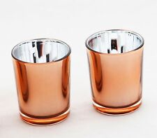 50 Copper Wedding Glass Cup Tealight Votive Candle Holder Table Party Decoration