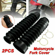 2PC Unviersal Motorcycle Front Shock Absorber Fork Rubber Boot Dust Cover Rubber