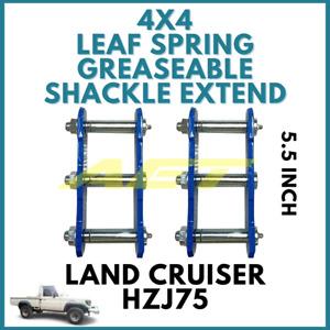 Toyota Land Cruiser 4x4 Leaf Spring Greaseable Extend 5.5 Shackles HZJ75 BJ60