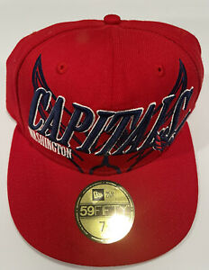 Washington Capitals NHL New Era Fitted Hat Size 7 1/4 NWT 🔥 🔥 🔥