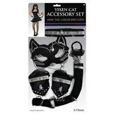 VALENTINES GIFT FANCY DRESS Adults Sexy Vixen Cat Accessory Kit Womens Girls