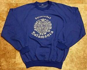 "Rare 70's Vintage University of Salamanca Universidad Sweatshirt-Large 22"" x 26"""