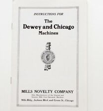 Mills Novelty Company Instructions for Dewey and Chicago Machines c. 1920