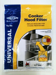 FOR COOKER HOOD EXTRACTOR GREASE FILTER WITH SATURATION INDICATOR 2 PACK CH1