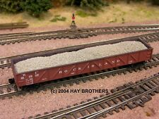 3-pack of Hay Brothers GRAVEL / BALLAST LOADS - Fits Micro-Trains 50' Gondolas