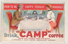 "VINTAGE POSTCARD ADVERTISING ""CAMP"" COFFEE 1900s"