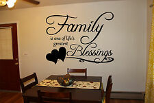 Wall Vinyl Sticker Bedroom Decal Family Blessing Quote Words Kitchen Art bo2603