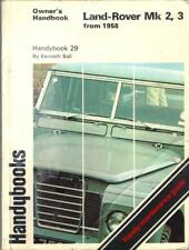 LAND ROVER SERIES 2,2A,3,FROM 1958,OWNERS HANDBOOK,SERVICE MANUAL