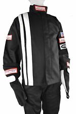 JR FIRE SUIT RACE SUIT SAFETY JACKET SFI 3.2A/1 BLACK SIZE KIDS 12-14