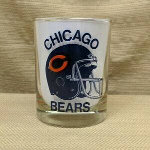 "Chicago Bears 1985 Super Bowl XX Champions Rocks Glass 4"" x 3"" Superdome 1986"