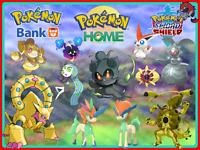 Pokemon Home ALL 11✨SHINY- Looked✨LEGENDARIES 6IV / 8 Sword Shield