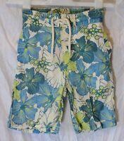 Boys Next Green Blue Tropical Floral Bermuda Swim Swimming Shorts Age 5-6 Years