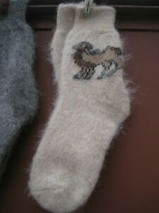 Women's WINTER SOCKS homemade NATURAL goat down cashmere  yarn Russian craft
