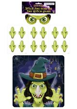 Stick the Nose on the Witch Halloween Kids Party Game 14pcs