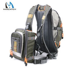 Maxcatch Fly Fishing Chest / Backpack Adjustable Multi-Pocket Dual-purpose