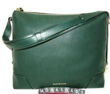 Michael Kors Racing Green Pebbled Leather Crosby Large Shoulder Bag New NWT $298