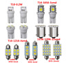 14PCS/Pack White LED Interior Package Kit T10 31mm Map Dome License Plate Lights