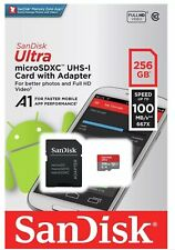 Sandisk Ultra 100MB/s 256 GB Micro SD SDXC Class 10 Memory Card + SD Adapter