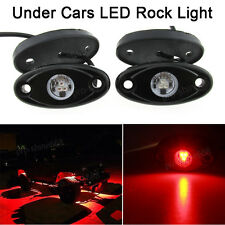 4x Red Offroad Truck Car ATV SUV Underbody Glow Light Lamp Tail Light Fit Jeep