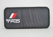 T Racing Carbon Fiber Car CD DVD Holder Disc Disk Storage Sun Visor Clip Bag