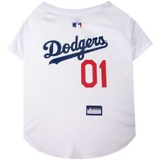 Los Angeles Dodgers MLB Officially Licensed Dog Pet White Jersey Sizes XS-XXXL