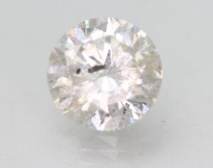 Certified 2.39 Carat F Color Round Brilliant Enhanced Natural Diamond 8.59mm